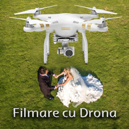 Filmare cu drona pentru nunta